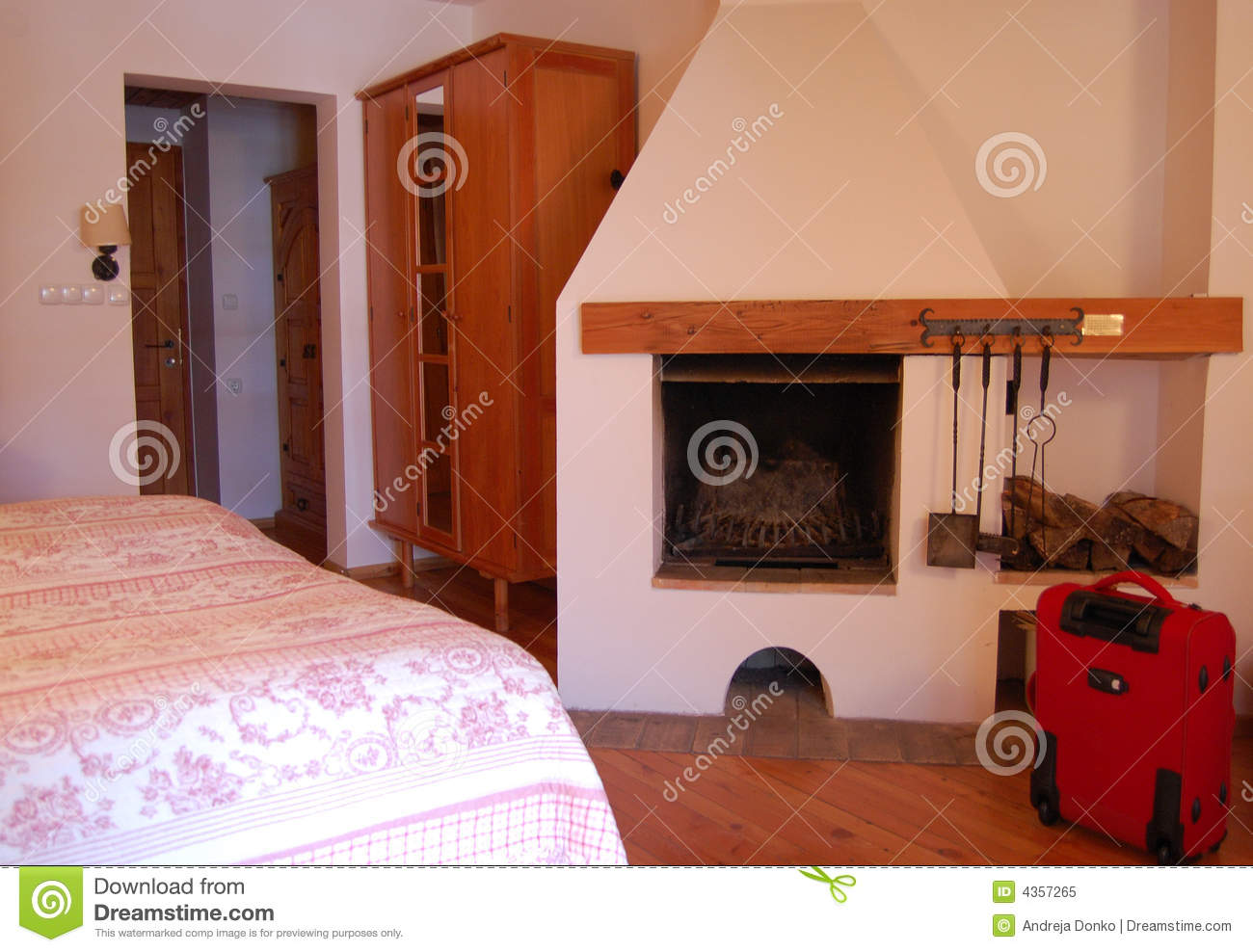 hotel room with fireplace royalty free stock photo image