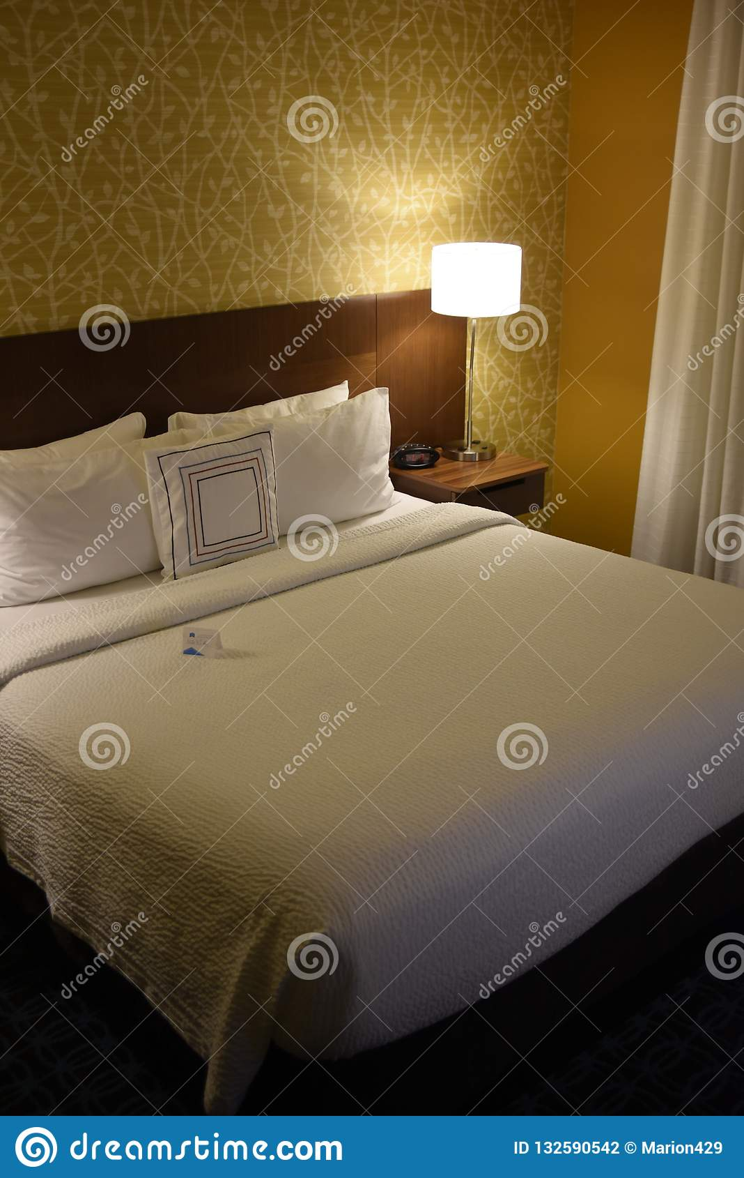 Twin Bed Hotel Room: Hotel Room First View Stock Photo. Image Of Room, Hotel
