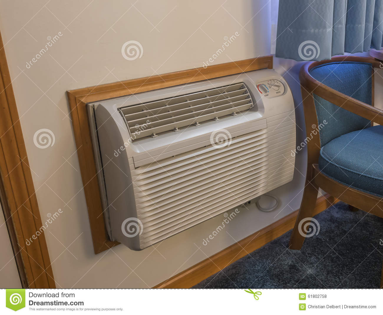 Hotel Room Heater And Air Conditioner Stock Photo Image