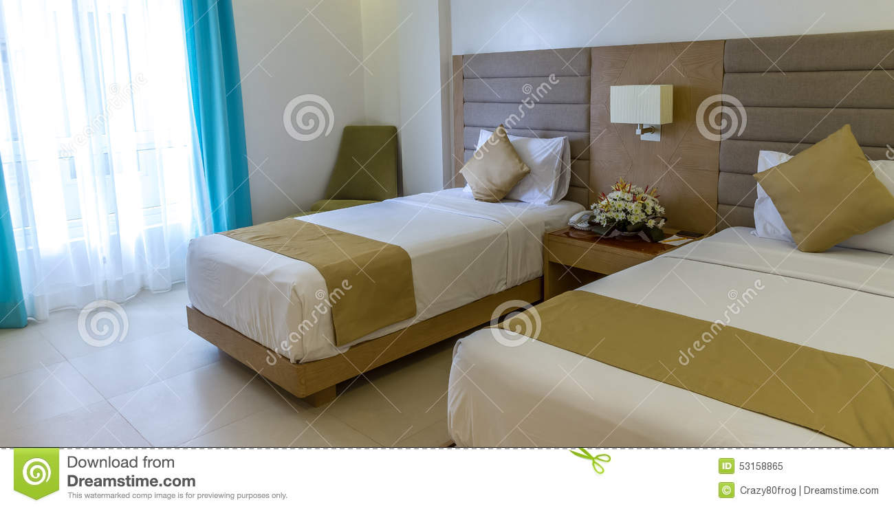 Interior Design Detail Of A Luxury Hotel Room Royalty Free