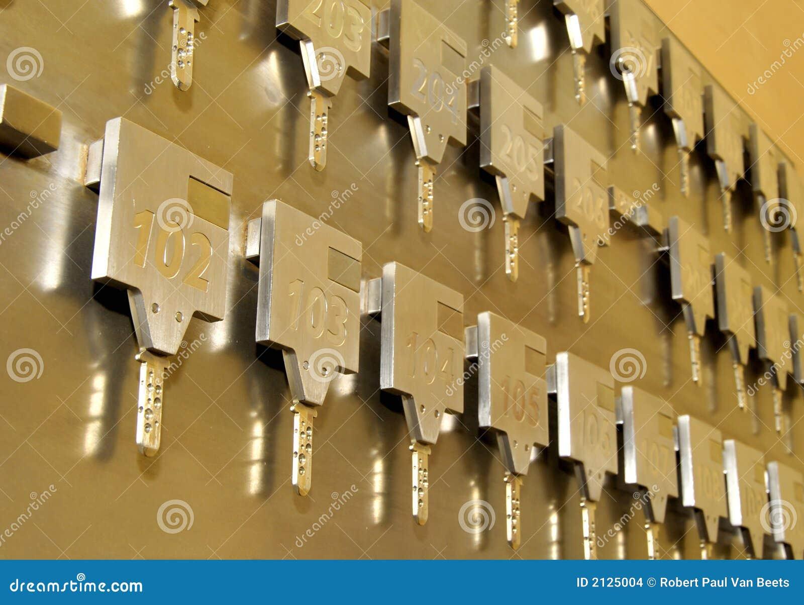 Hotel room keys stock photo  Image of safety, lobby, safe