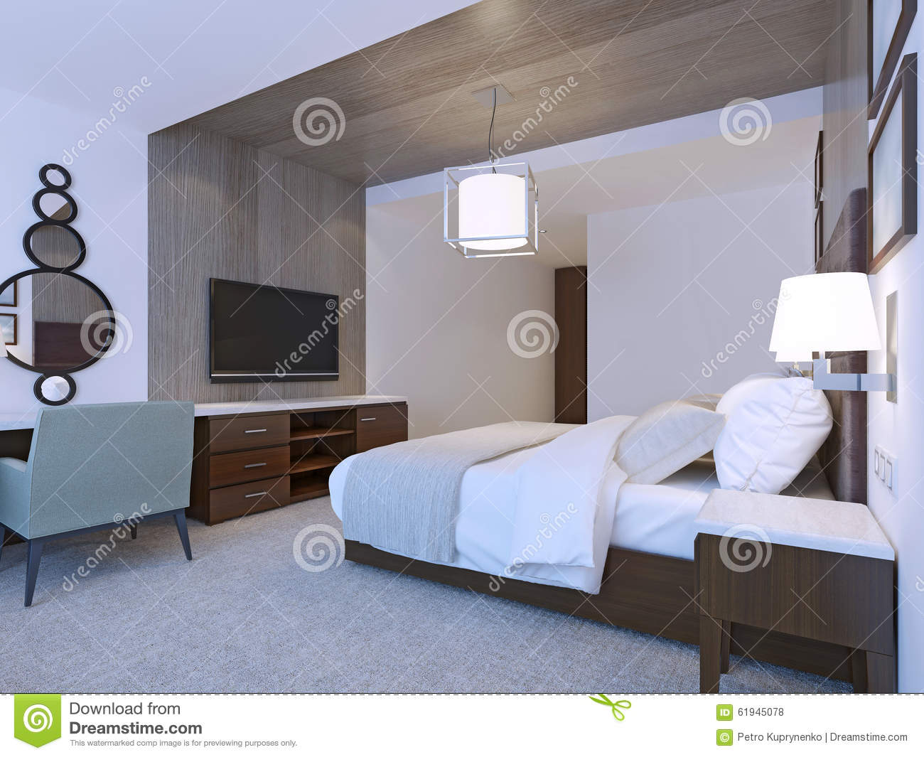 Hotel room with minimalist design stock photo image for Hotel minimalista