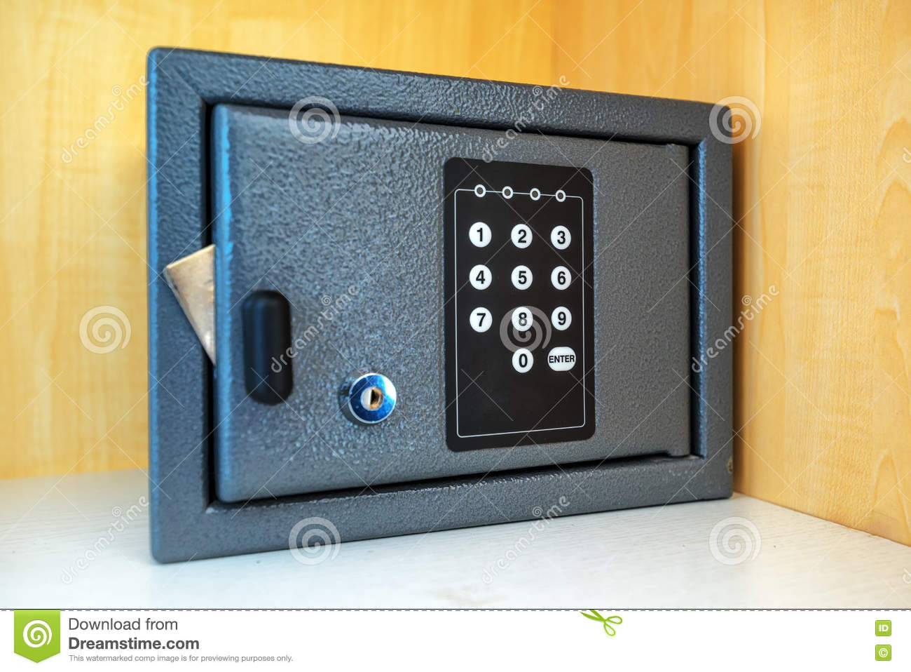 Hotel Room Safety Deposit Box Stock Photo - Image of object