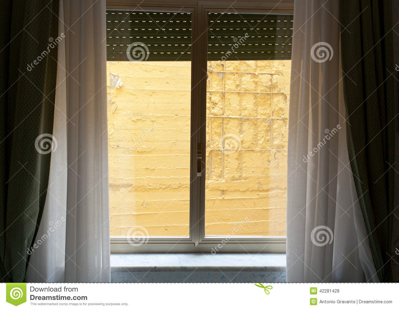 Hotel Room With Wall View Stock Photo Image Of Window