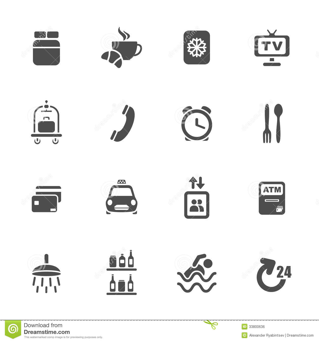 Download Hotel Services Icons Stock Illustration Of Food