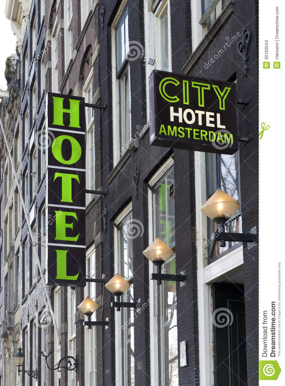 Hotel Sign Editorial Stock Image Image 30183044