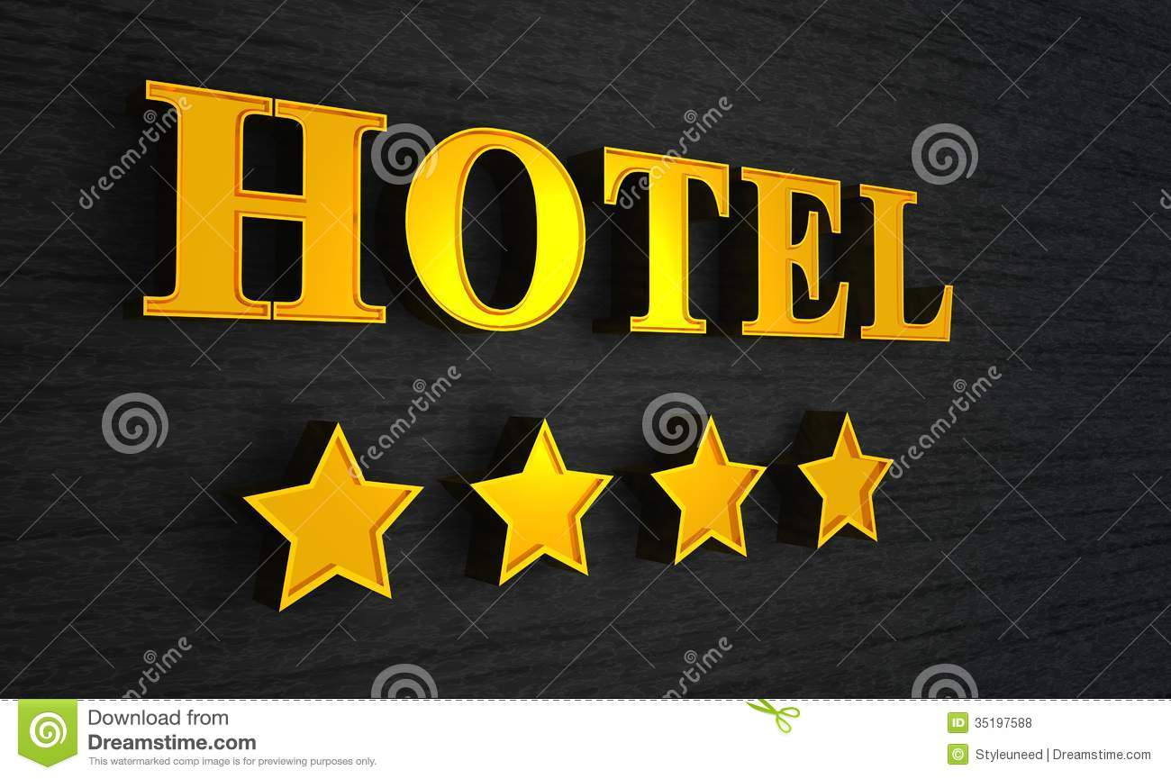 Hotel sign with four stars stock photo image of for Four star hotel