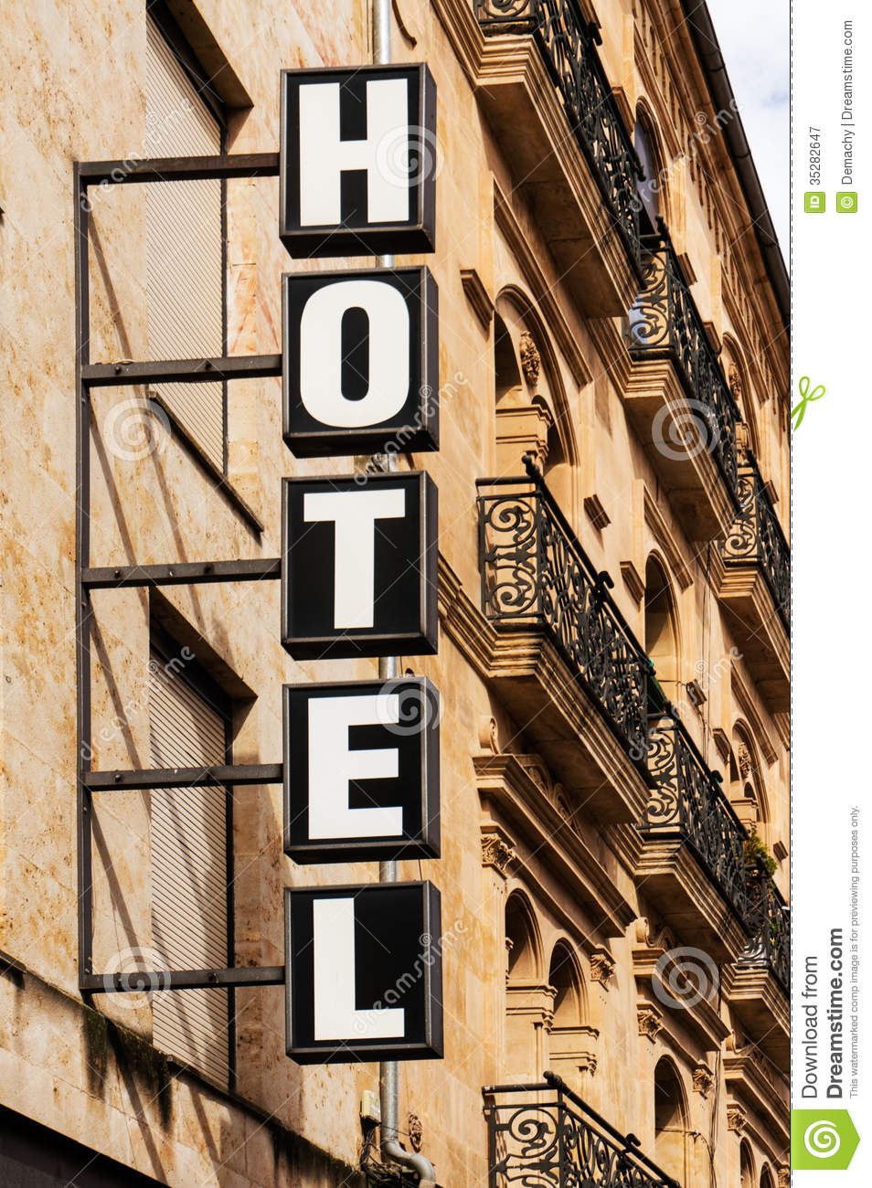 Hotel Sign Vertical Stock Image Of Facade Horizontal