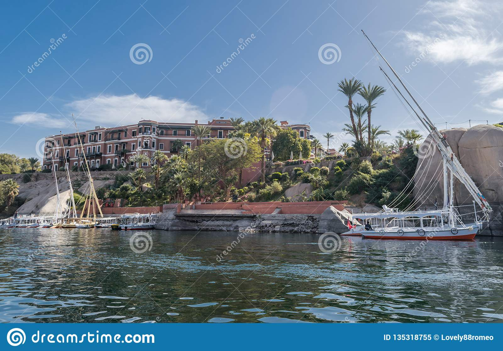 Hotel Sofitel Legend Old Cataract Aswan Egypt Editorial