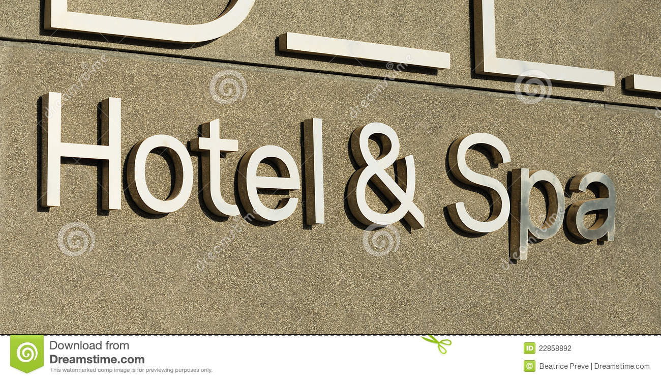 Hotel And Spa Sign Stock Photography - Image: 22858892