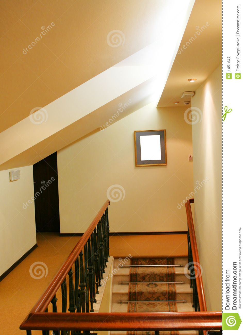Royalty Free Stock Photo. Download Hotel Staircase To Attic ...