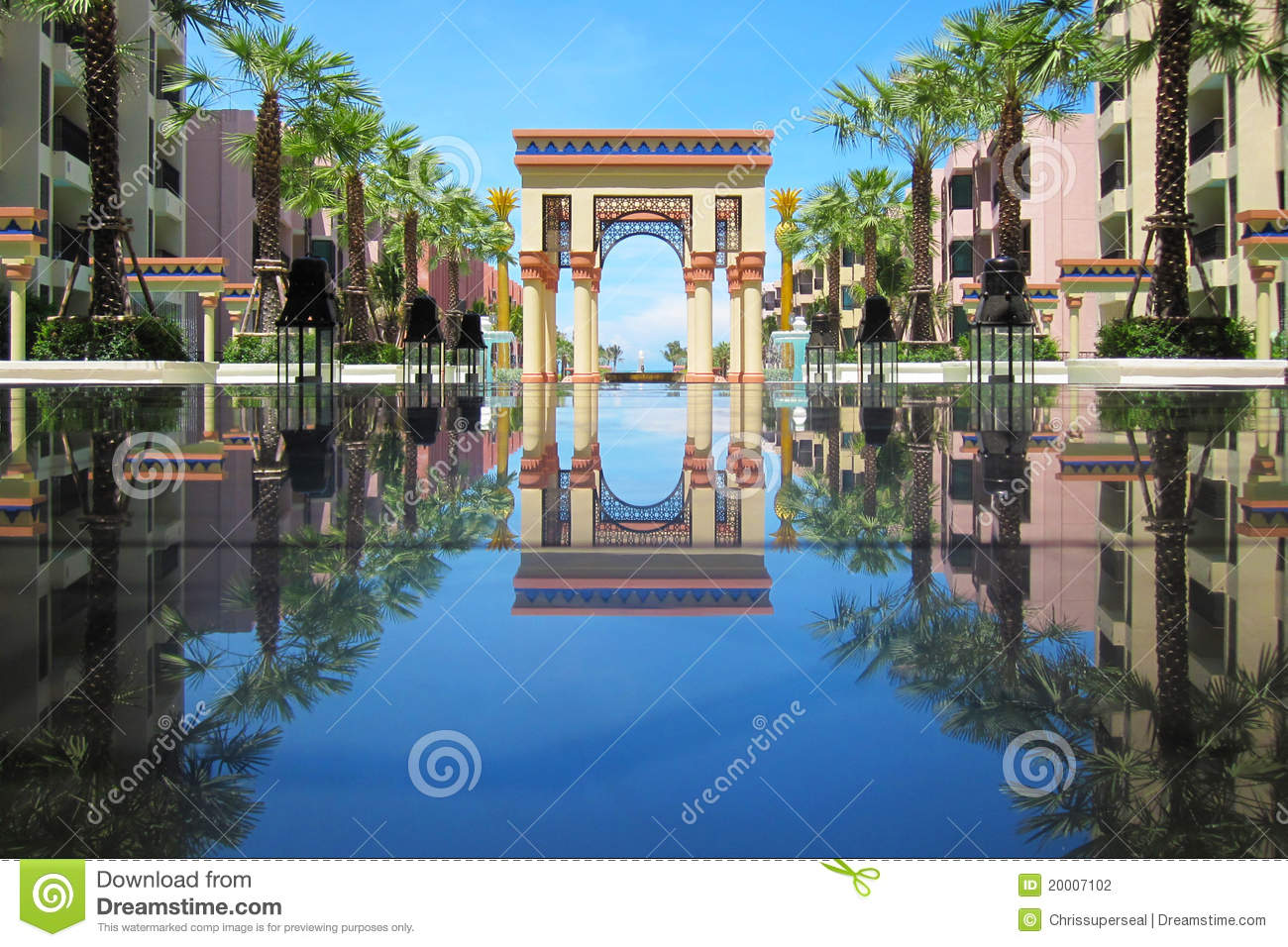 Hotel Swimming Pool Reflection Thailand Stock Photography Image 20007102
