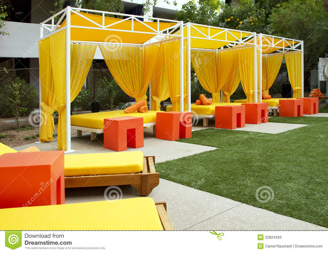 Hotel Swimming and Wading Pool Cabanas & Hotel Swimming And Wading Pool Cabanas Stock Image - Image of ...