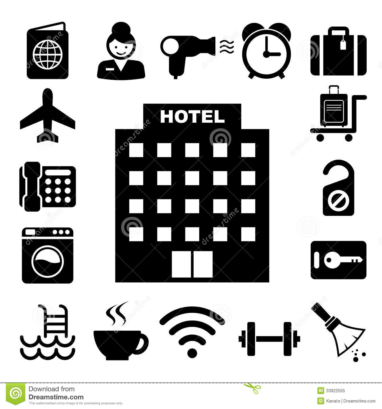 Hotel Icons Clipart | www.pixshark.com - Images Galleries ...