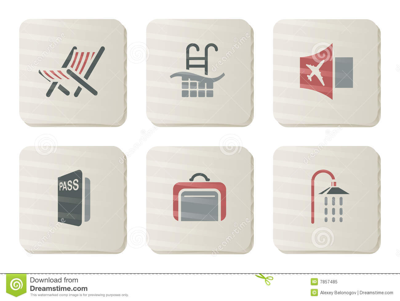 Hotel and Travel icons | Cardboard series