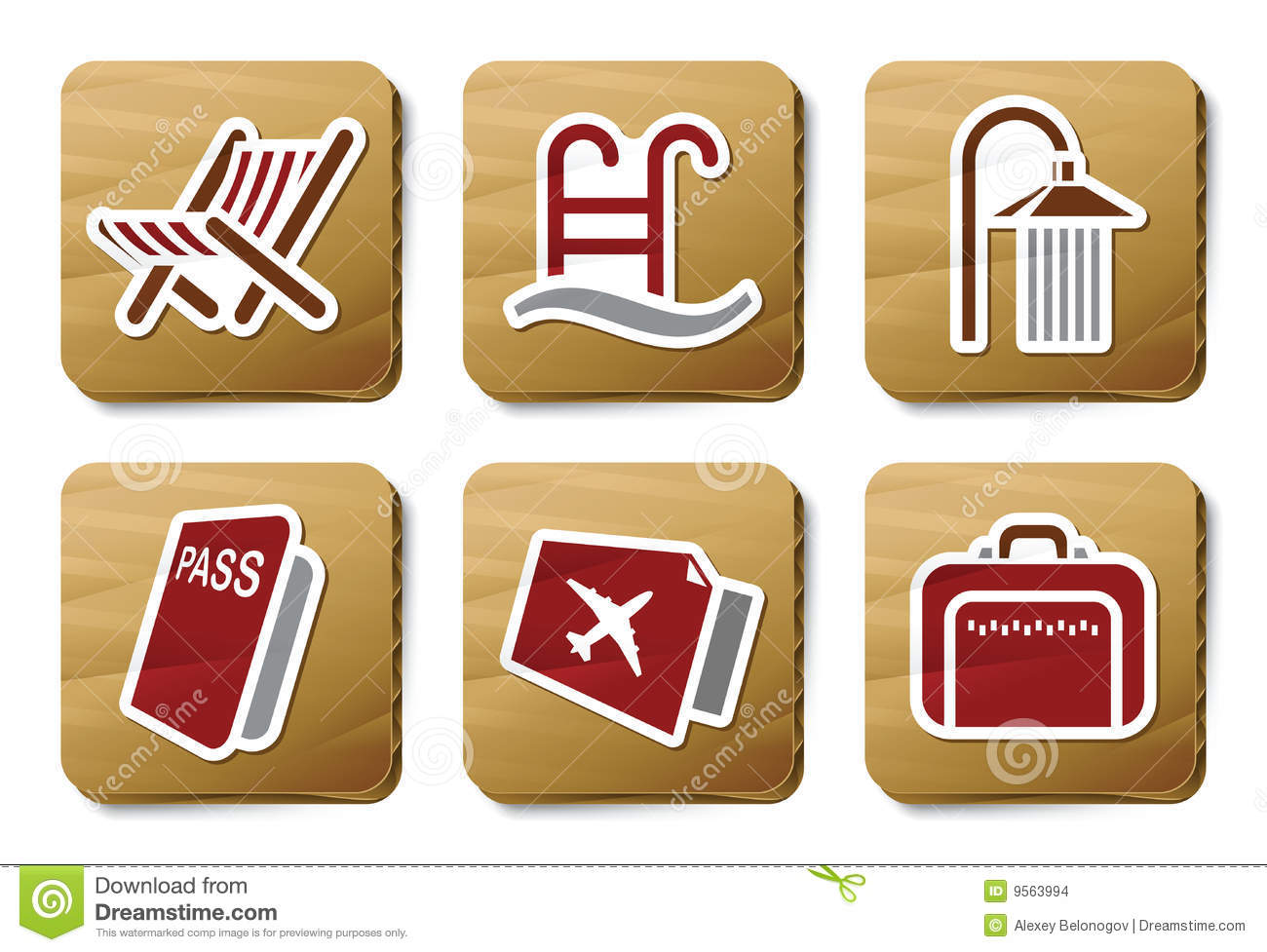 Hotel and Travel icons   Cardboard series