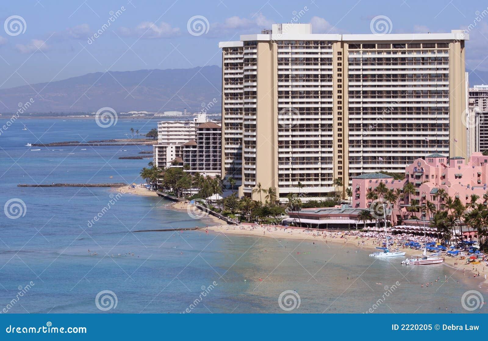 Hotel On Waikiki Beach Hawaii Usa Stock Image Image Of