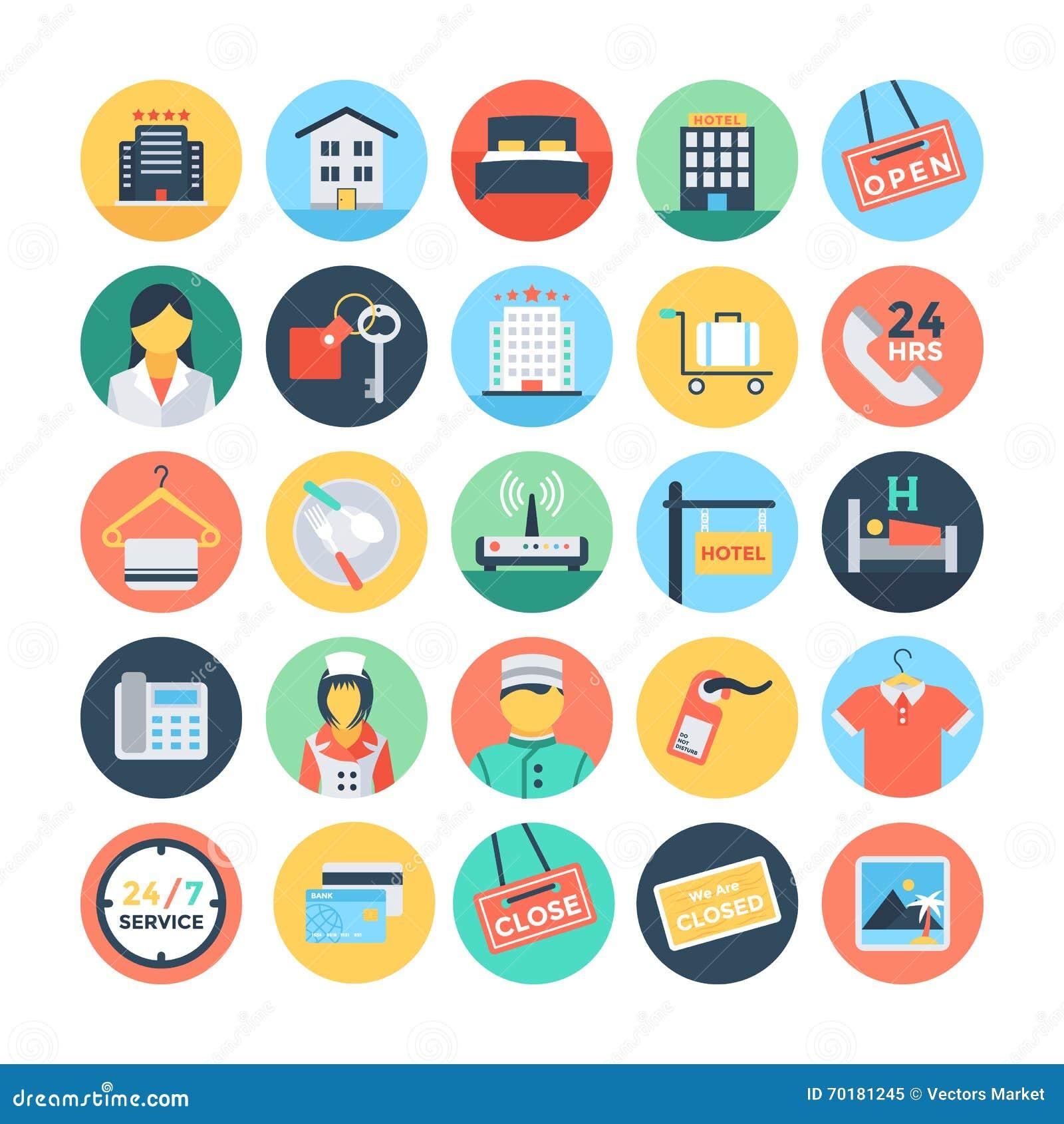 hotel y ejemplos 1 del vector de los servicios stock de ilustración -  ilustración de sitio, label: 70181245  dreamstime