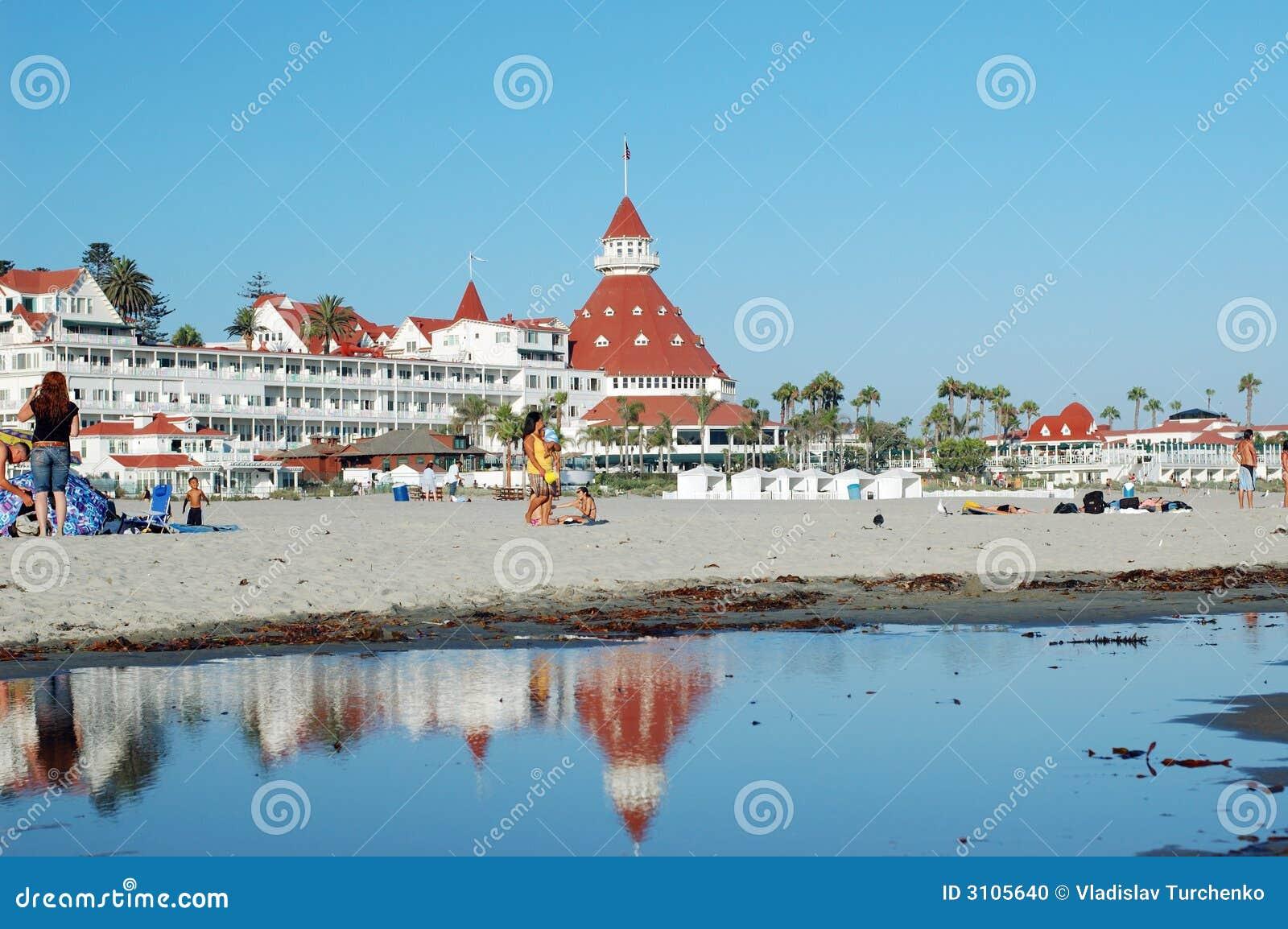 Hotel y playa de Coronado