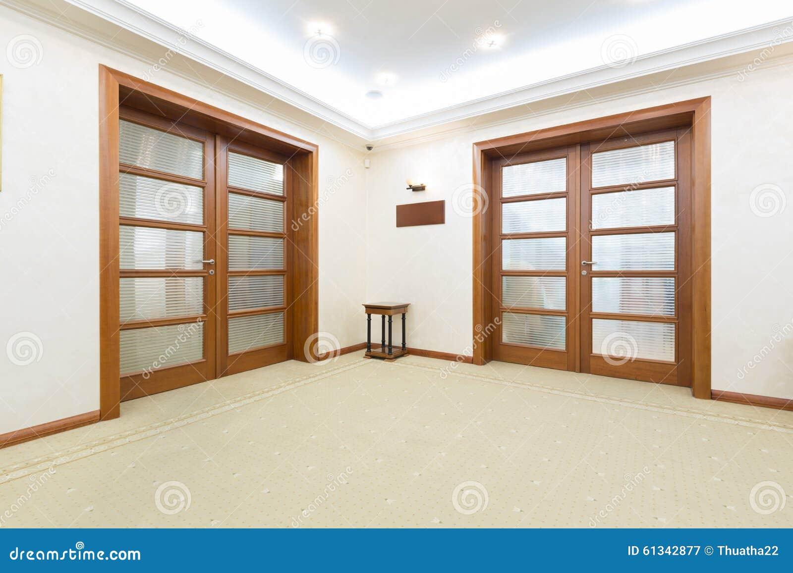 Hotelbinnenland vip de ingang van de ruimtedeur stock afbeelding