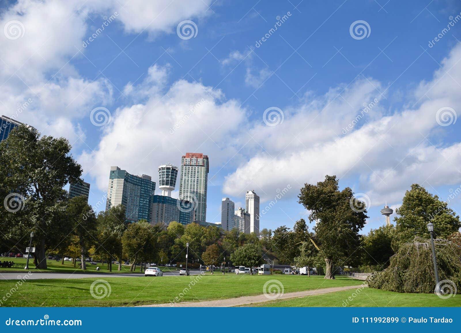 Hoteldistrict en parklands van Niagara-Dalingen Canada