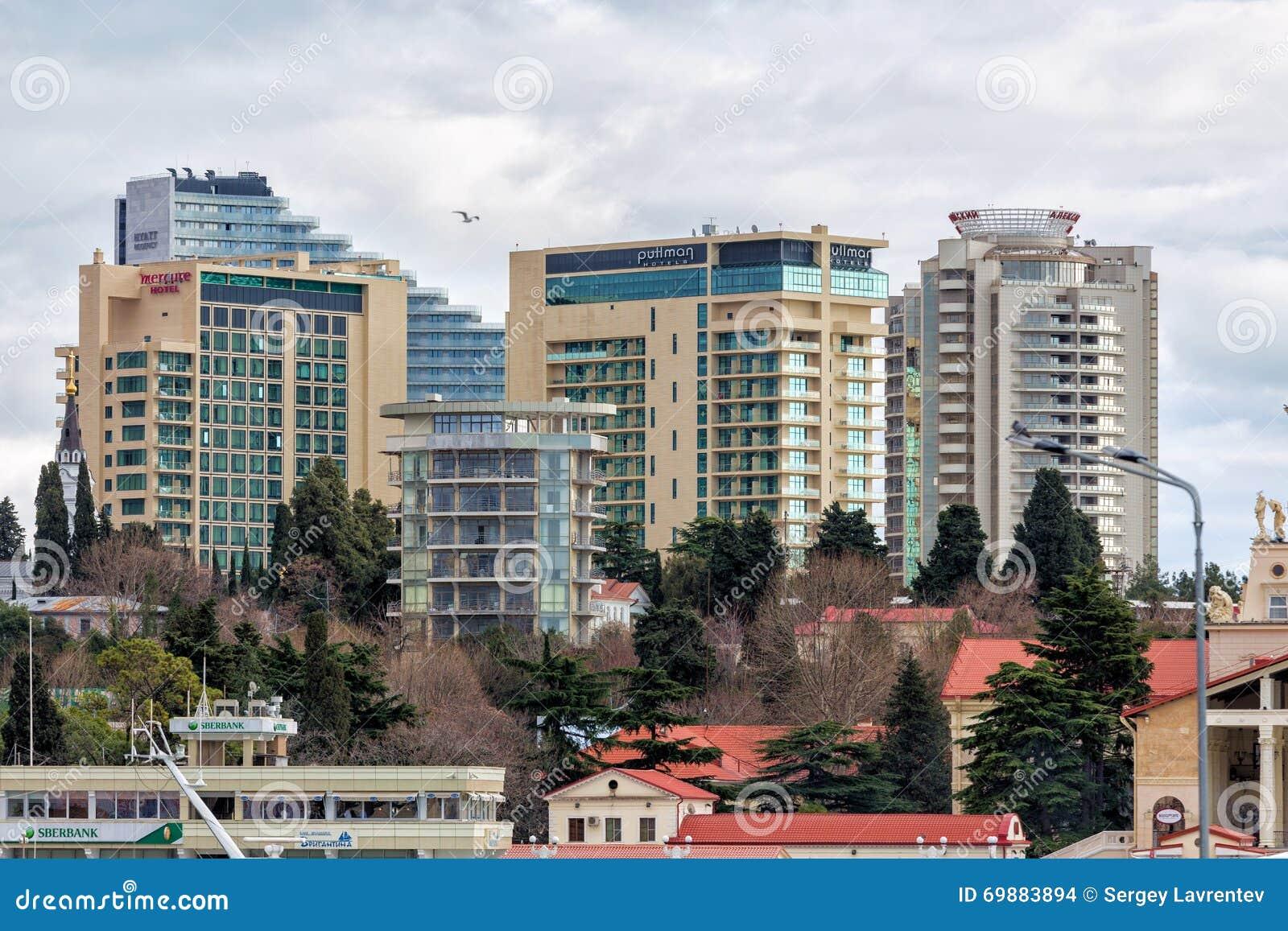 Hoteles de lujo modernos sochi rusia imagen de archivo for Hoteles de lujo modernos