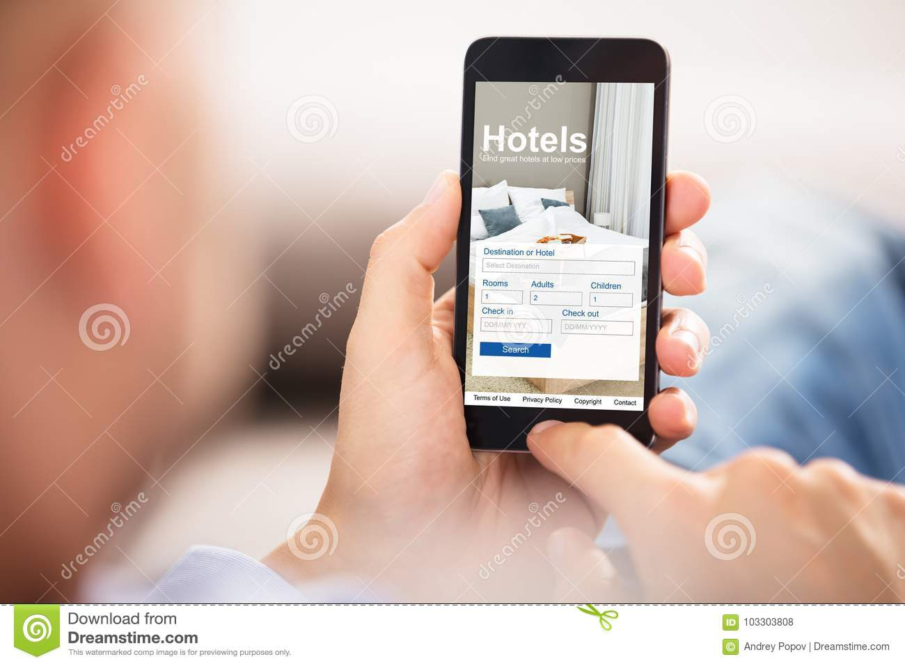 Hoteles de Person Searching Online Low Prices