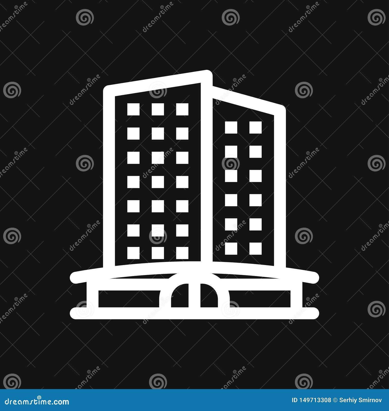 Hotelikonenlogo, Illustration, Vektorzeichensymbol f?r Entwurf