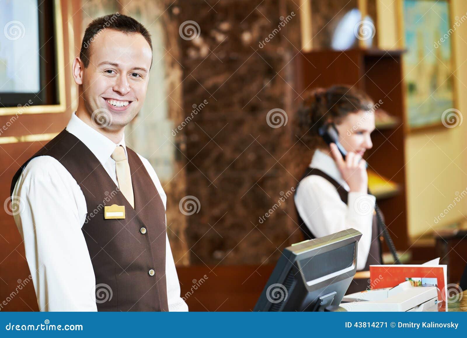 Hotellarbetare på mottagande