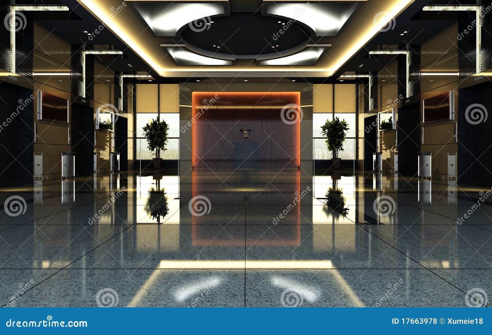 Hotellframförande för korridor 3d