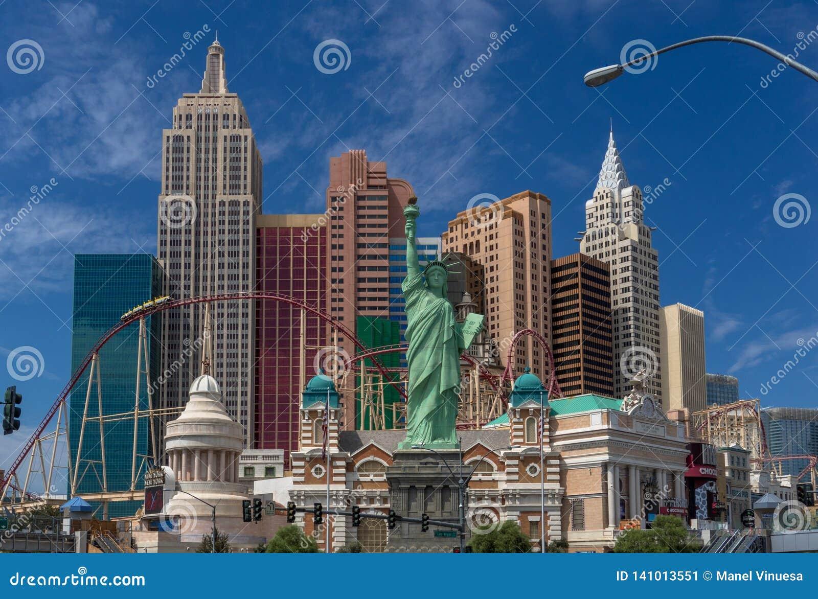 Hotelowy Nowy Jork Nowy Jork w Las Vegas pasku