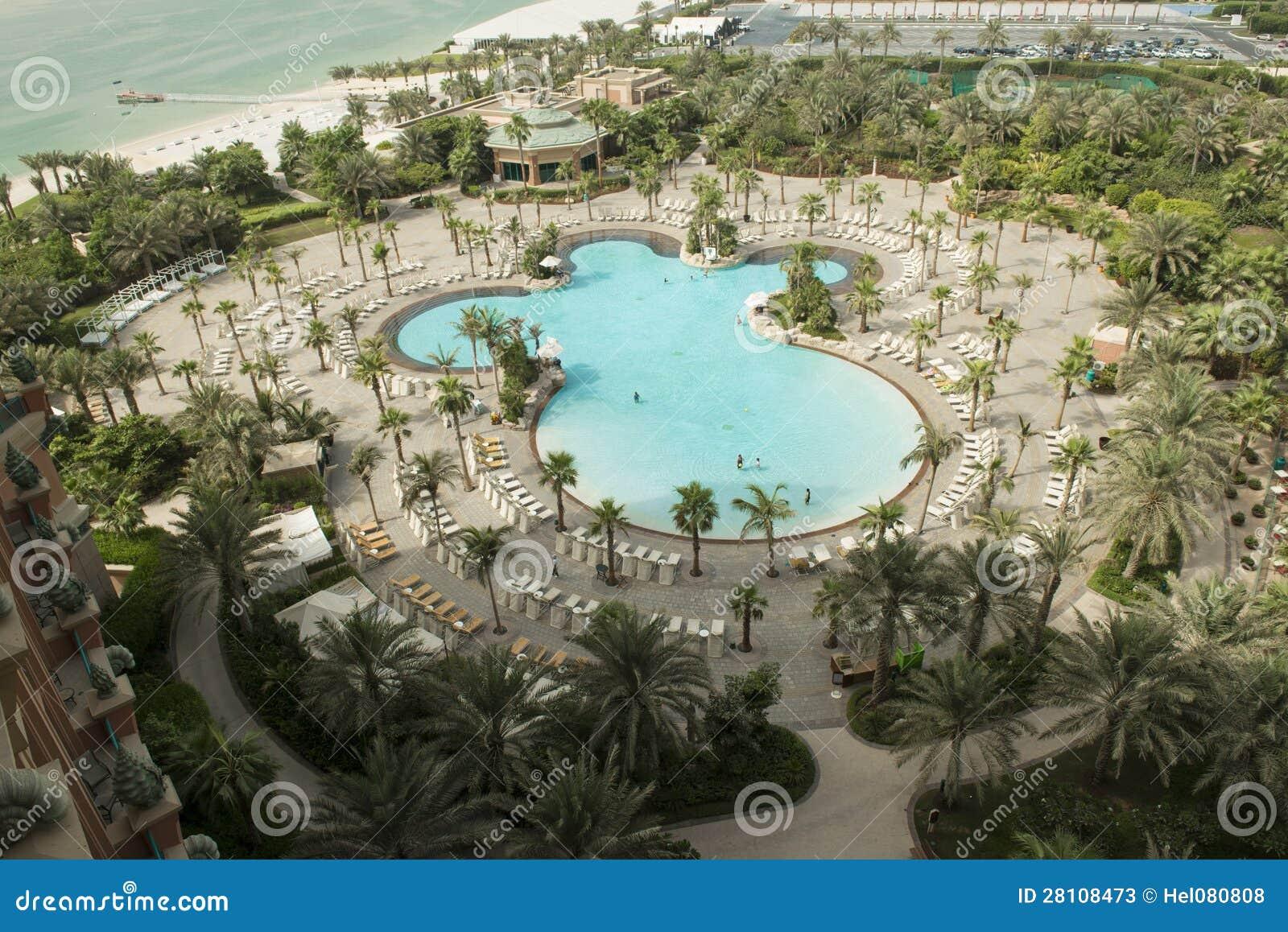 Pool Atlantis Dubai Stock Photos Image 28108473