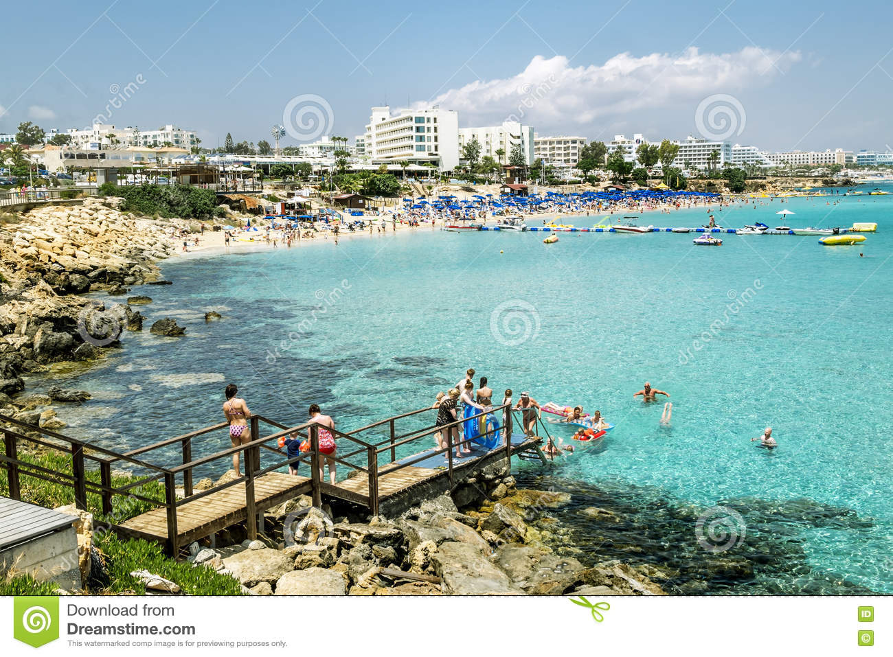 Map Of Hotels In Fig Tree Bay Cyprus