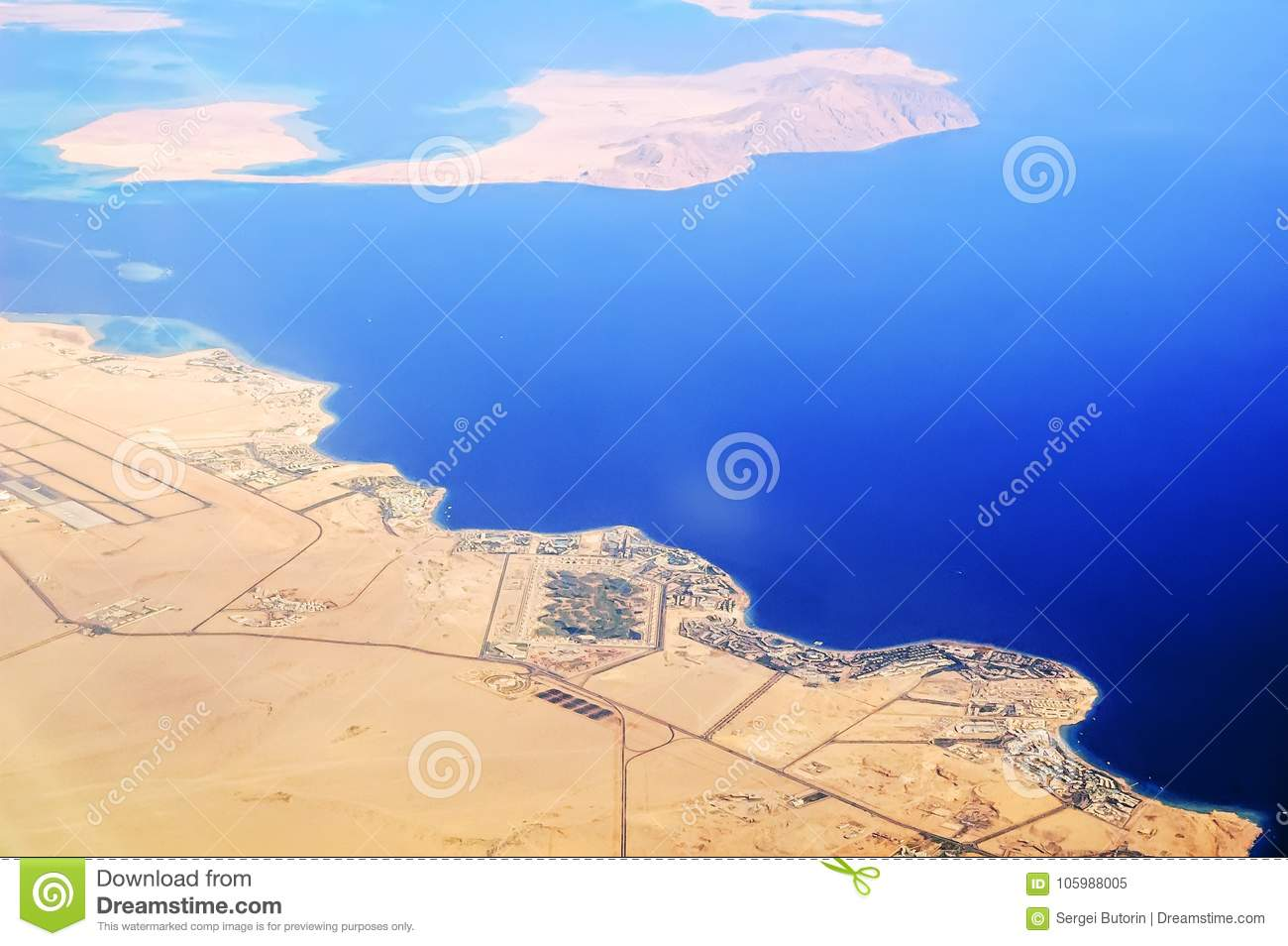 Aerial View to Sharm El Sheikh Coast Egypt Stock Image Image of