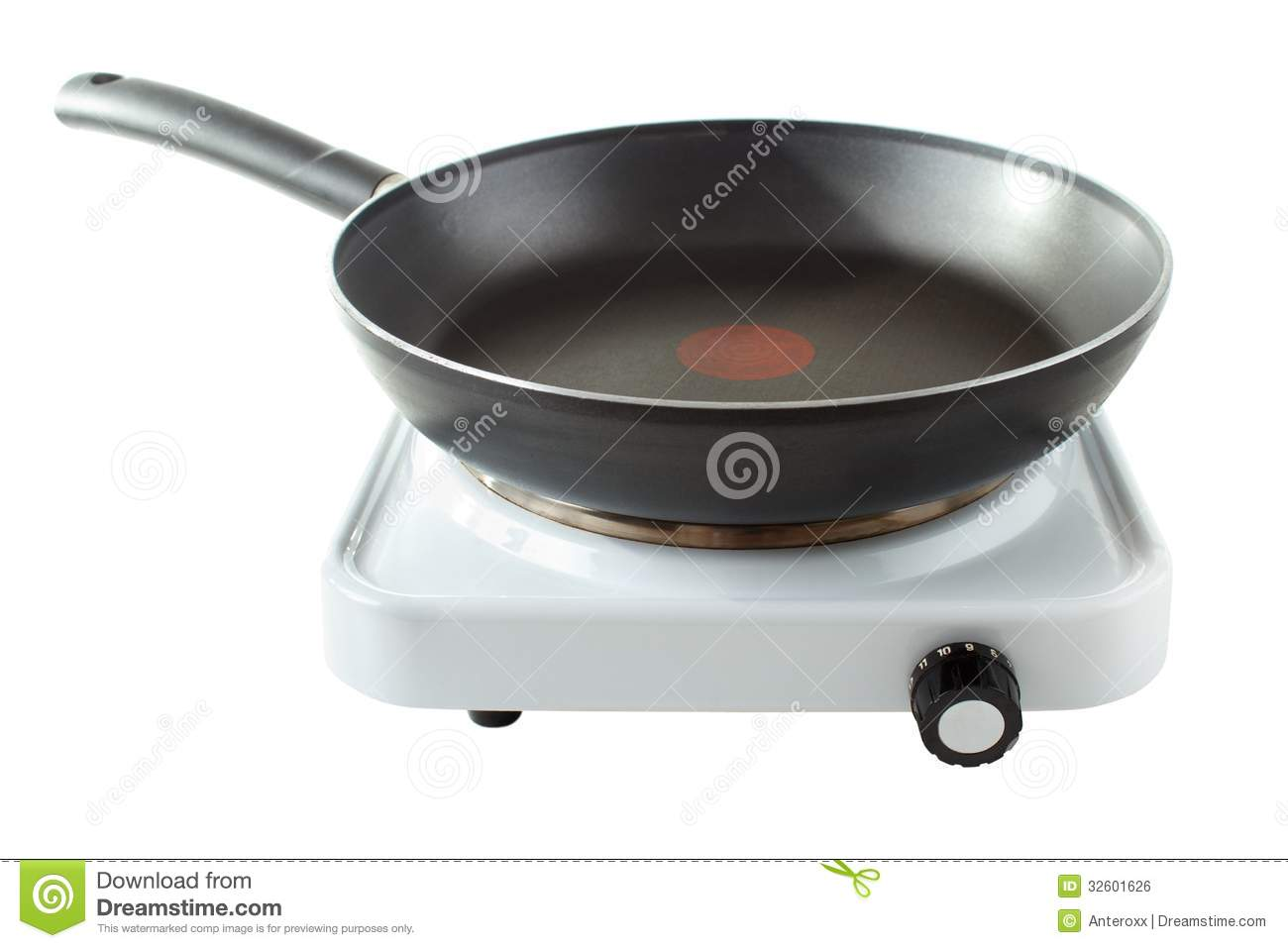Kitchen island metal top - Hotplate With Pan Royalty Free Stock Image Image 32601626