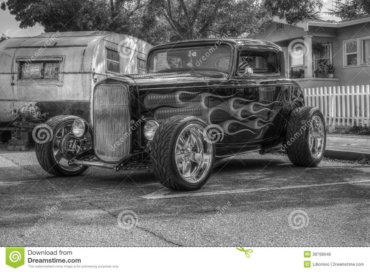 HotRod In Black And White HDR Editorial Photo Image Of Custom - Livermore car show