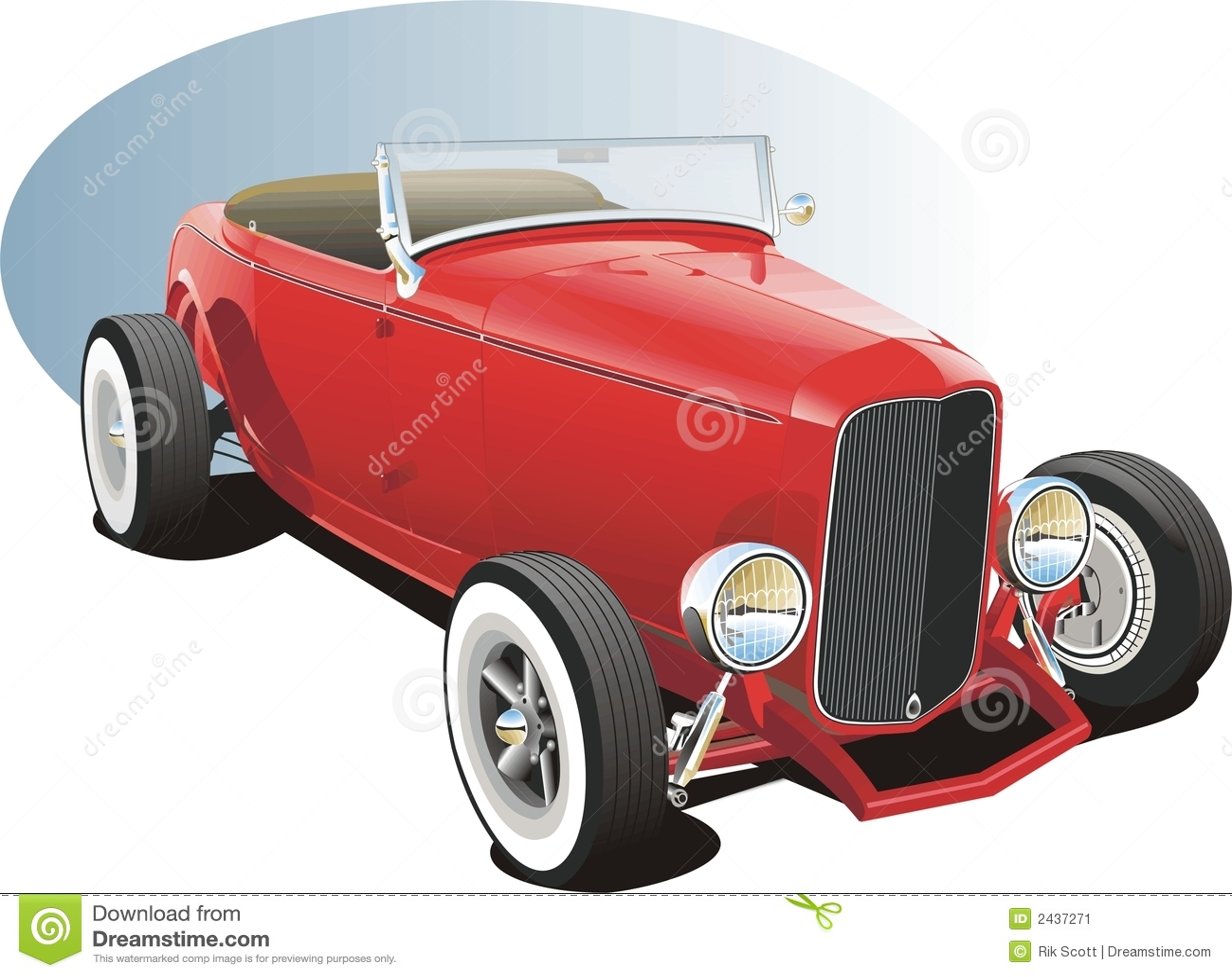Hotrod rouge