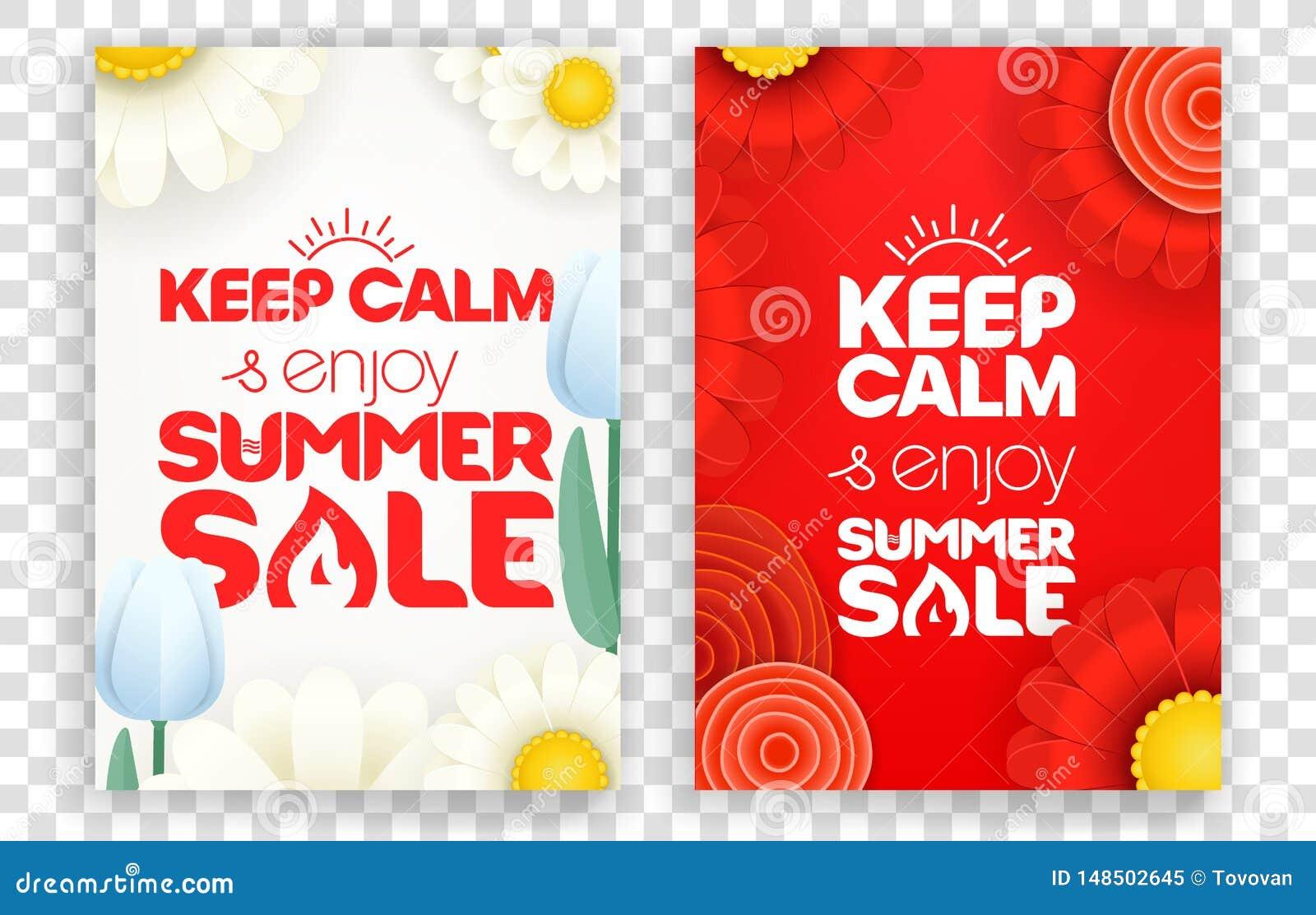 Houd kalm en geniet de zomer van verkoop