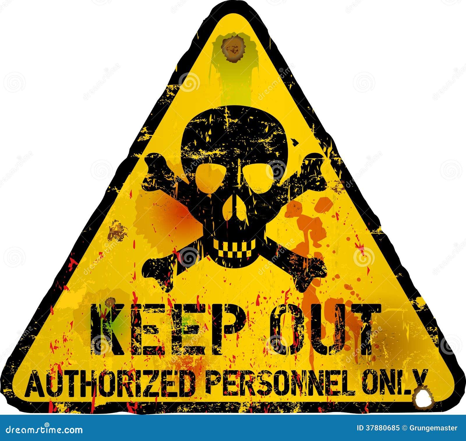 Houd teken, het waarschuwen weg