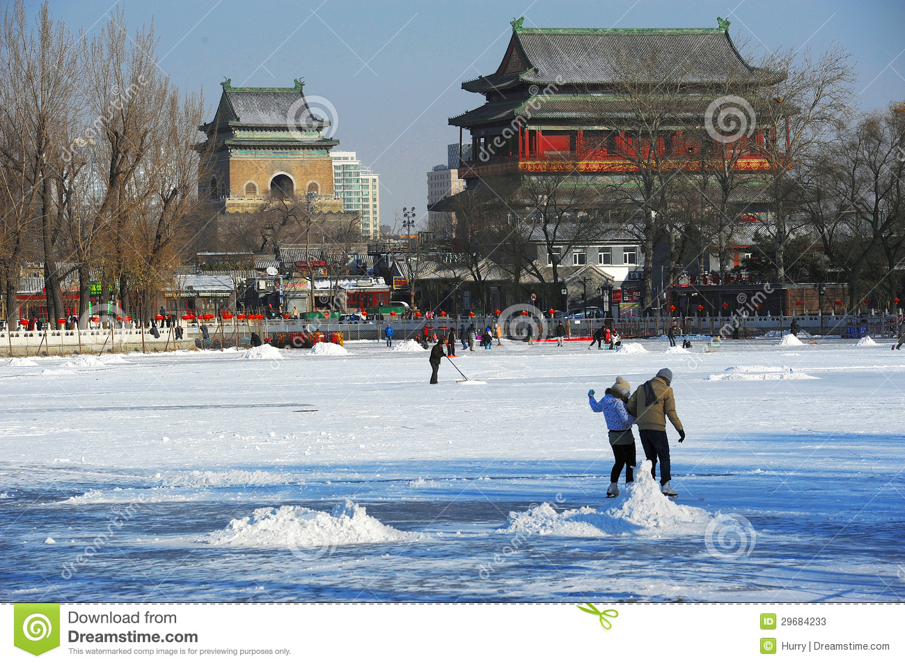 Houhai after snow