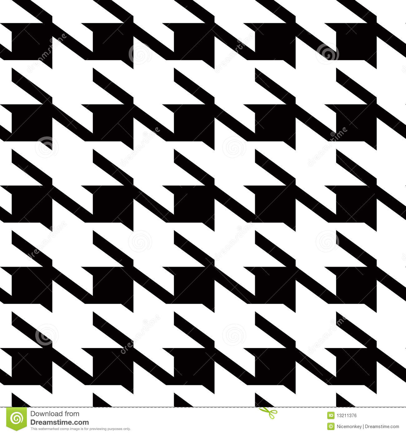 Houndstooth Large Background Stock Vector Image 13211376