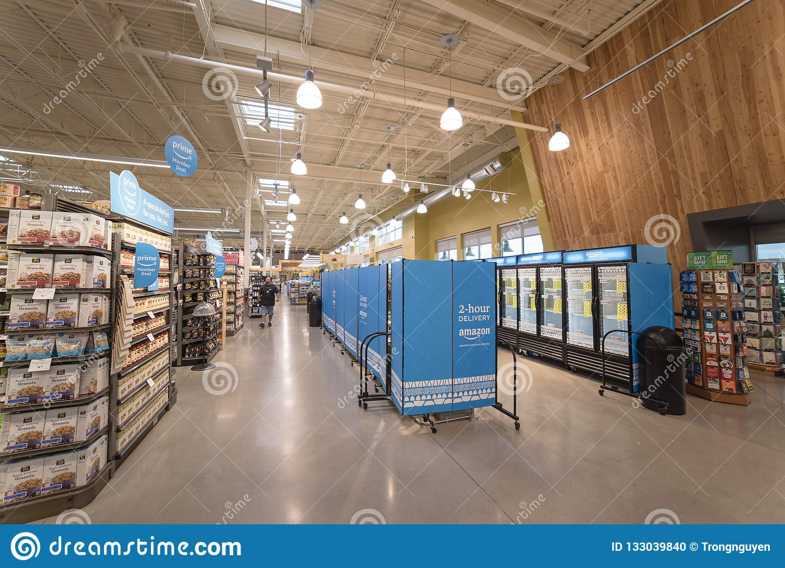 2-hour Delivery Service Section At Whole Foods For Amazon