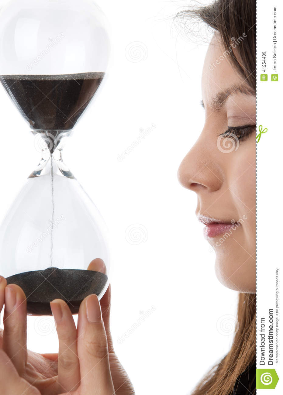 Hour Glass Sand Timer Stock Image Image Of People Woman 41254489