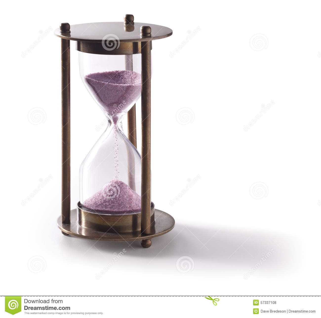 hour glass timer stock photo image of clear object 57337108