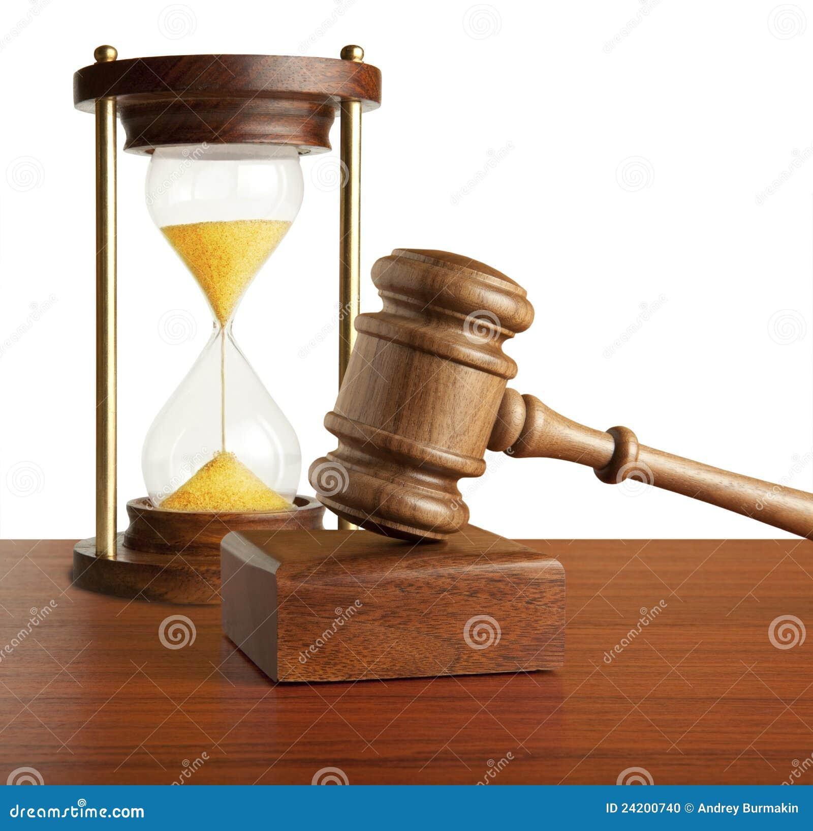Hourglass e gavel