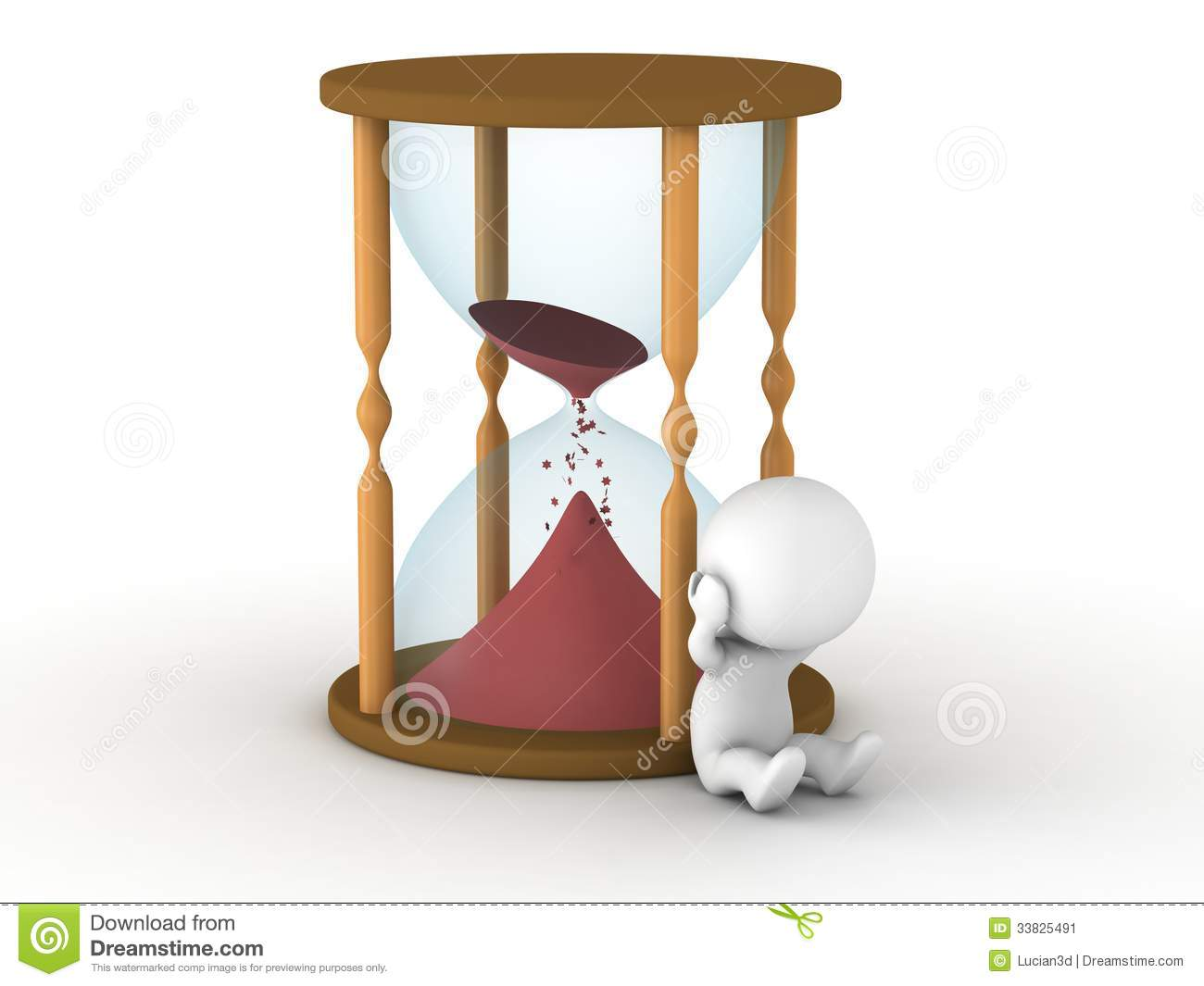 hourglass almost empty and upset 3d man stock image magnifying glass clip art outline magnifying glass clip art images