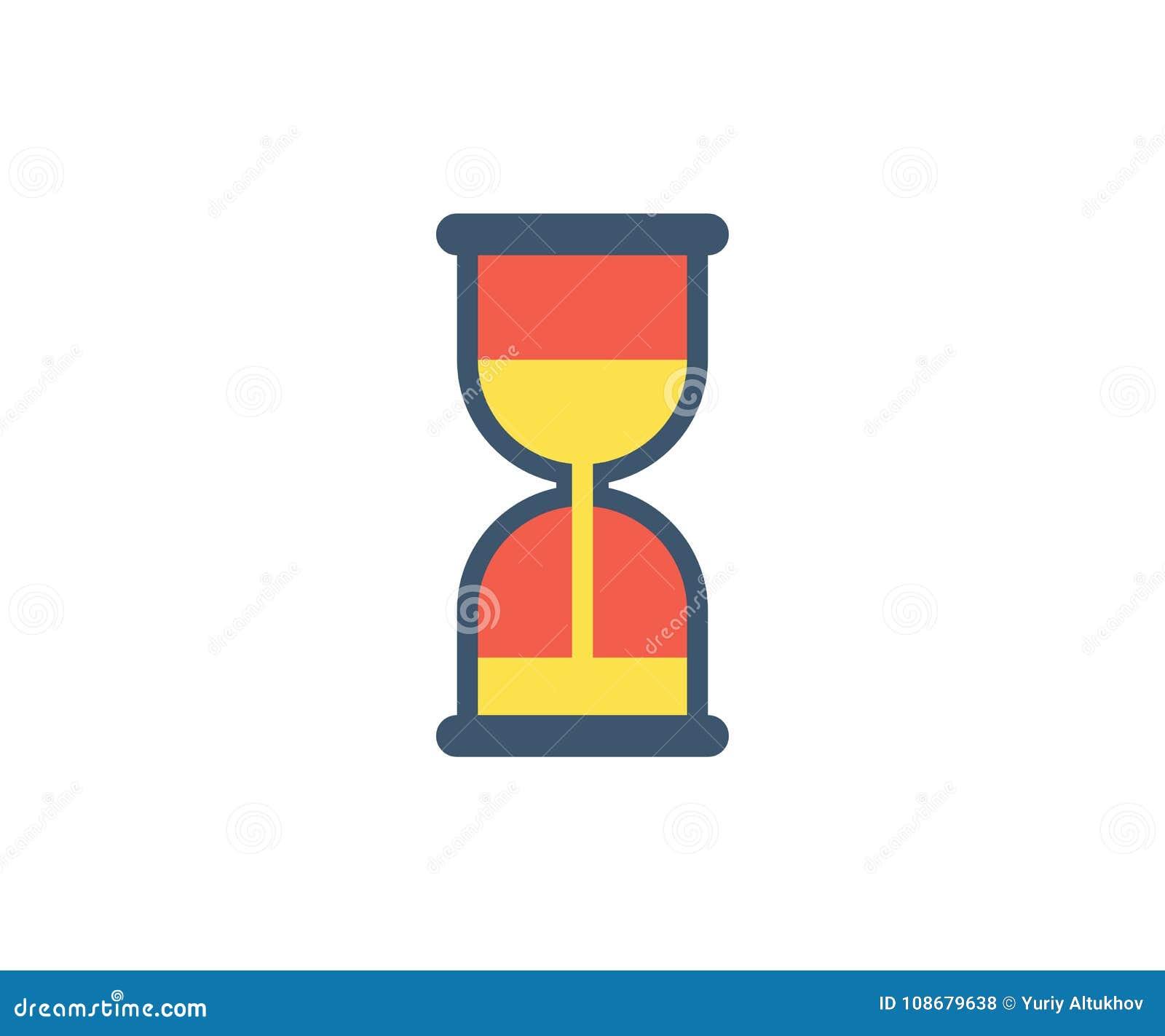 dfa78b24bb8 Hourglass Icon. Vector Illustration In Flat Minimalist Style Stock ...