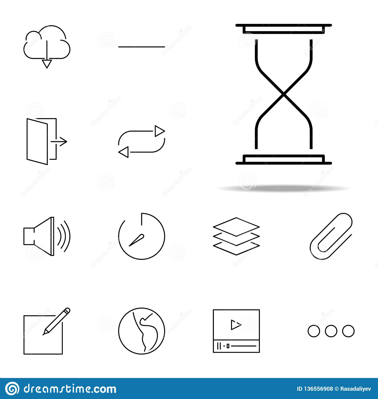 hourglass icon. web, minimalistic icons universal set for web and mobile
