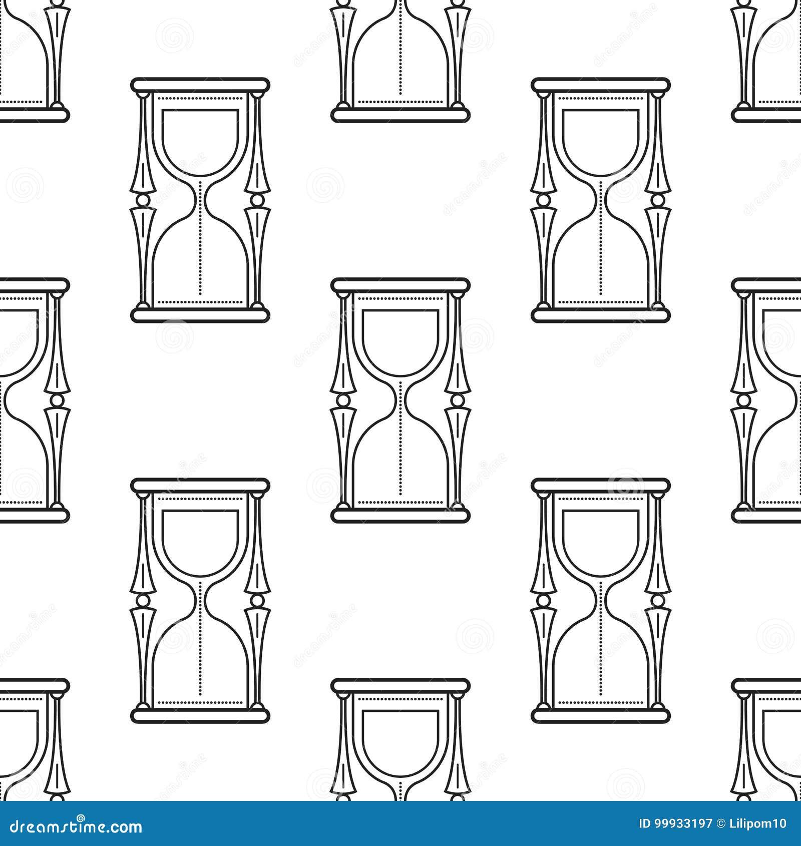 Hourglass Modelo Inconsútil Blanco Y Negro Para Los Libros De ...