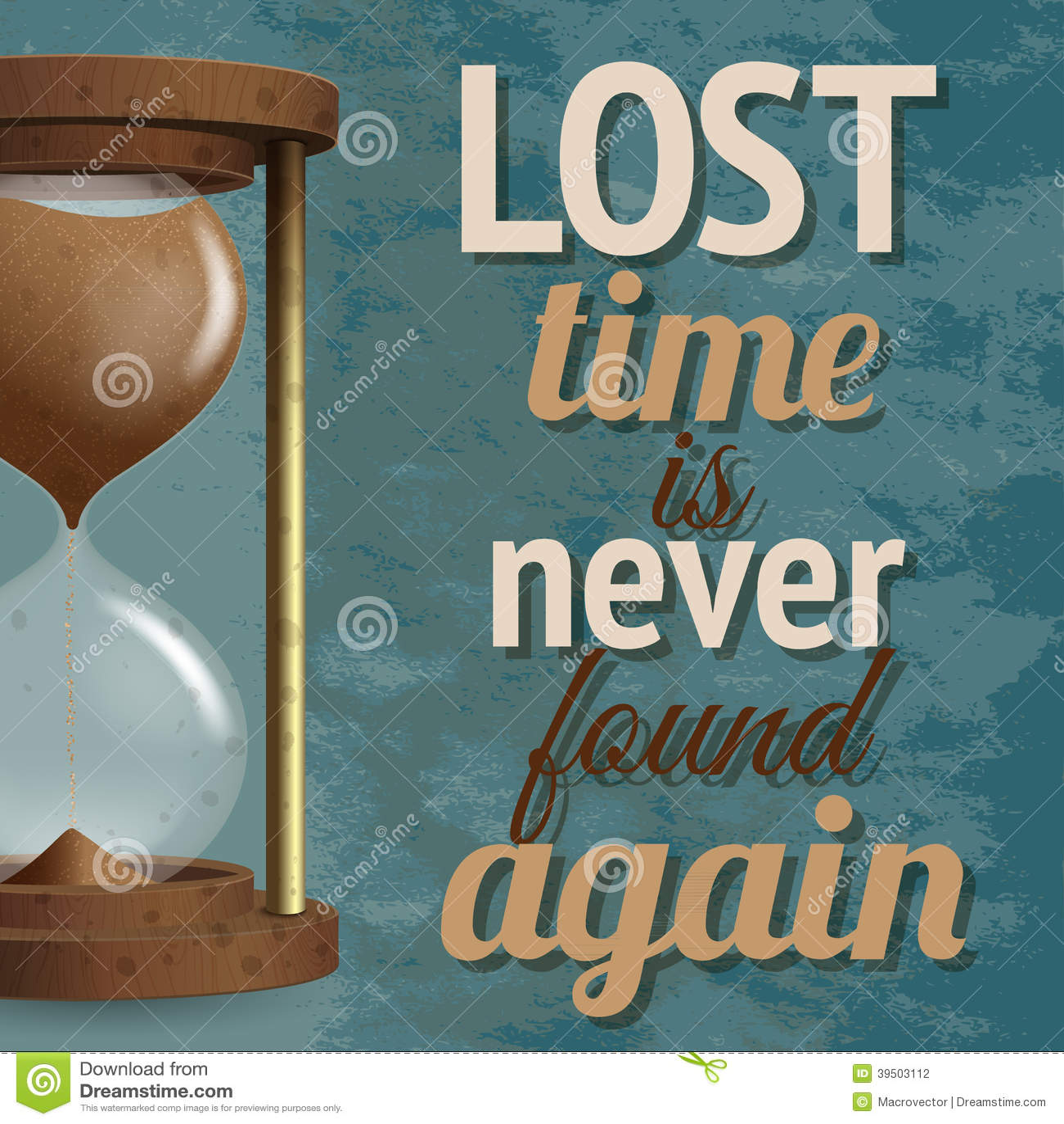 Hourglass retro poster